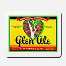New York Beer Label 11 Mousepad