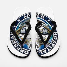 USN Hospital Corpsman Skull H Flip Flops