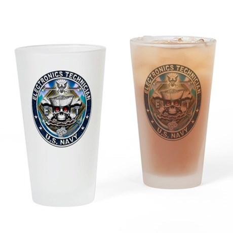 USN Electronics Technician Sk Drinking Glass