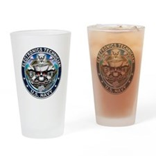 USN Electronics Technician Sk Drinking Glass