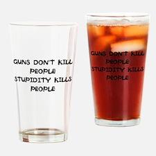 Cute Stupid Drinking Glass