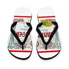 New York Beer Label 9 Flip Flops