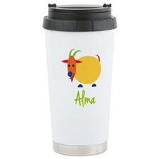 Alma The Capricorn Goat Travel Mug