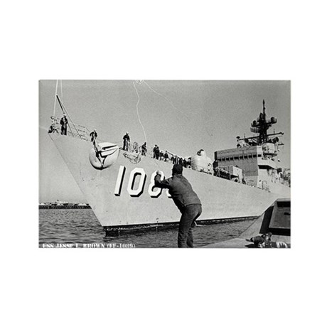 USS JESSE L. BROWN Rectangle Magnet