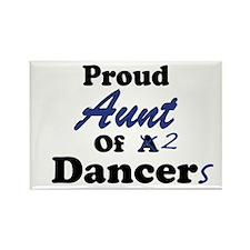 Aunt of 2 Dancers Rectangle Magnet