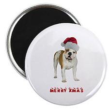 Bulldog Christmas Magnet