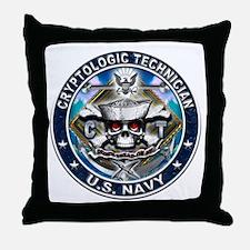 USN Cryptologic Technician Sk Throw Pillow