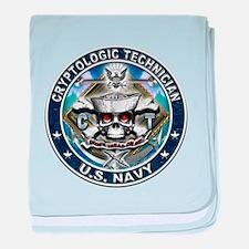 USN Cryptologic Technician Sk baby blanket