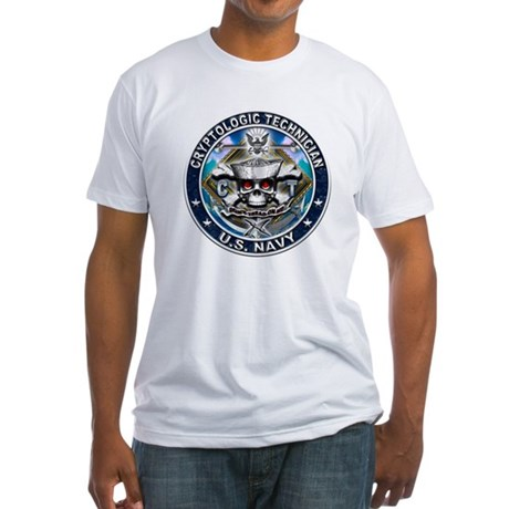 USN Cryptologic Technician Sk Fitted T-Shirt
