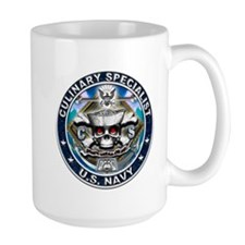 USN Culinary Specialist Skull Mug