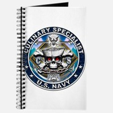 USN Culinary Specialist Skull Journal