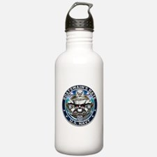 USN Boatswains Mate Skull BM Water Bottle
