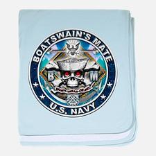 USN Boatswains Mate Skull BM baby blanket