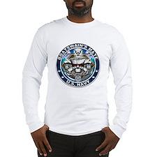 USN Boatswains Mate Skull BM Long Sleeve T-Shirt