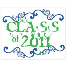 Fancy Senior Class 2011 Canvas Art