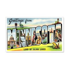 Greetings from Minnesota Wall Decal
