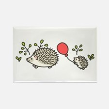 Baby Hedgehog's Red Balloon Rectangle Magnet