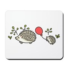 Baby Hedgehog's Red Balloon Mousepad