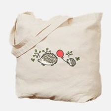 Baby Hedgehog's Red Balloon Tote Bag