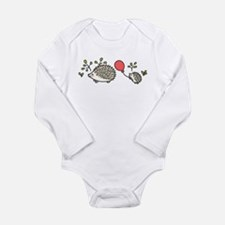 Baby Hedgehog's Red Balloon Long Sleeve Infant Bod