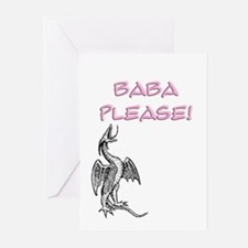 Baba Please! in Pink Greeting Cards (Pk of 10)