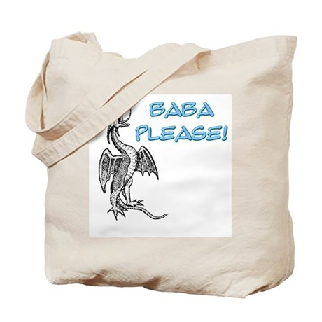 Baba Please! in Blue Tote Bag