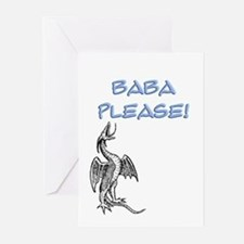Baba Please! in Blue Greeting Cards (Pk of 10)