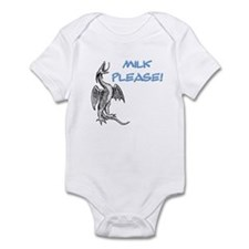 Milk Please! in Blue Infant Creeper