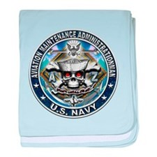 USN Aviation Maintenance Admi baby blanket