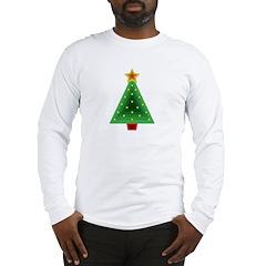 Triangle Christmas Tree Long Sleeve T-Shirt