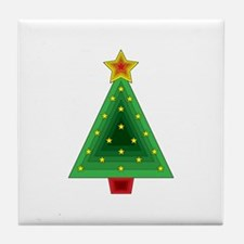 Triangle Christmas Tree Tile Coaster