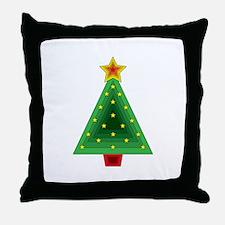 Triangle Christmas Tree Throw Pillow