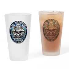 USN Naval Aircrewman Skull AW Drinking Glass