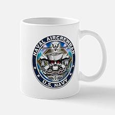 USN Naval Aircrewman Skull AW Mug