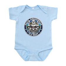 USN Naval Aircrewman Skull AW Infant Bodysuit