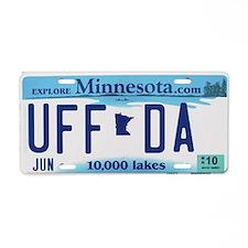 "Minnesota ""Uffda"" Aluminum License Plate"