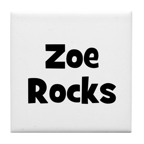 Zoe Rocks Tile Coaster
