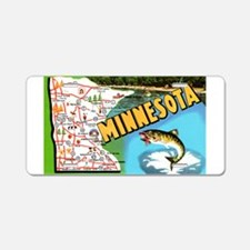 1940's Minnesota Map Aluminum License Plate