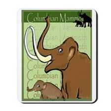 Columbian Mammoth and Baby Mousepad