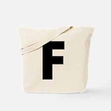 Letter F Tote Bag