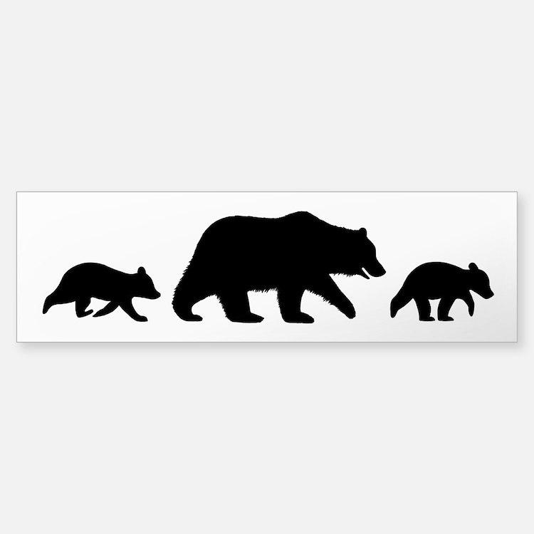 Grizzly Bears Bumper Bumper Sticker