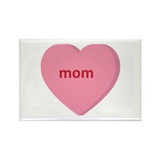 Candy Heart - Mom Rectangle Magnet (100 pack)