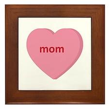 Candy Heart - Mom Framed Tile