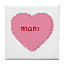 Candy Heart - Mom Tile Coaster