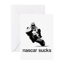 nascar sucks nicky hayden whi Greeting Card