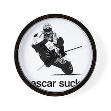 nascar sucks nicky hayden whi Wall Clock