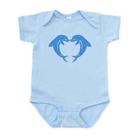 Blue Valentines Dolphins Infant Bodysuit