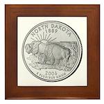 North Dakota State Quarter Framed Tile