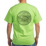 North Dakota State Quarter Green T-Shirt