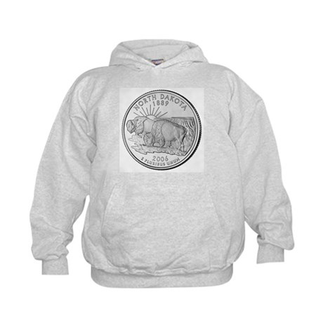 North Dakota State Quarter Kids Hoodie